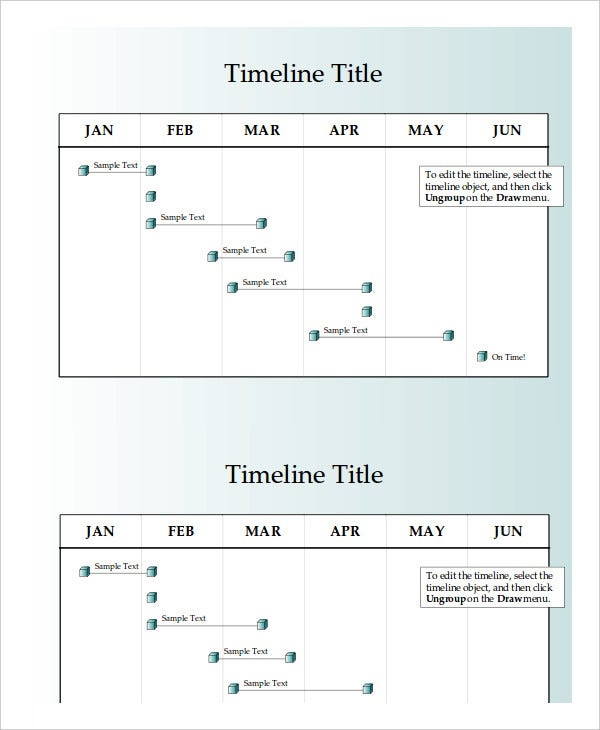 half yearly timeline powerpoint template