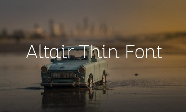Altair Thin Font