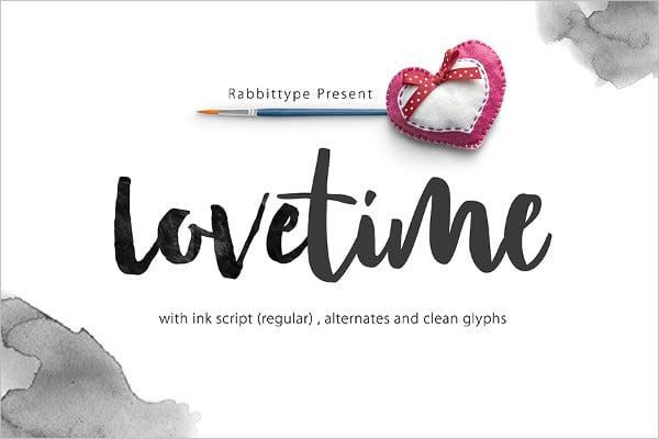 Free Font Lovetime Script