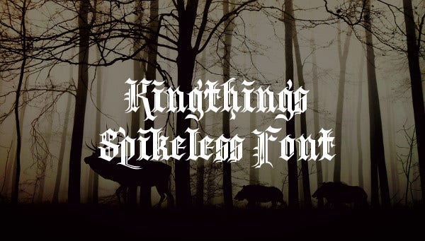 Kingthings Spikeless Font