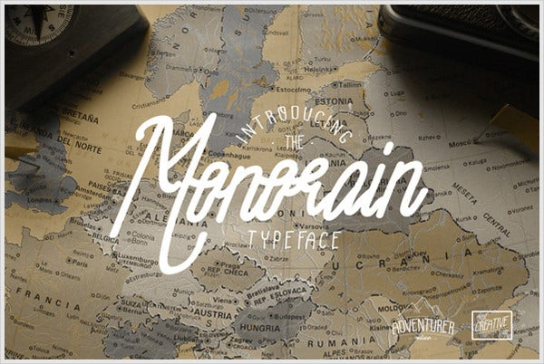 monorain font