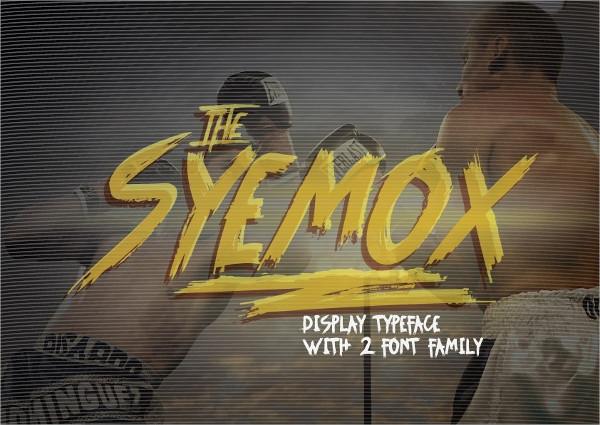Syemox Brush Font