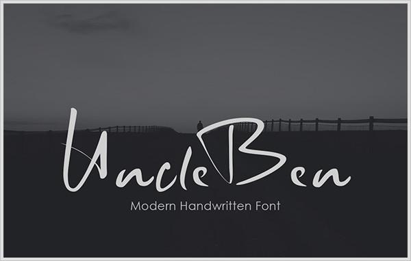 UncleBen - Signature Font
