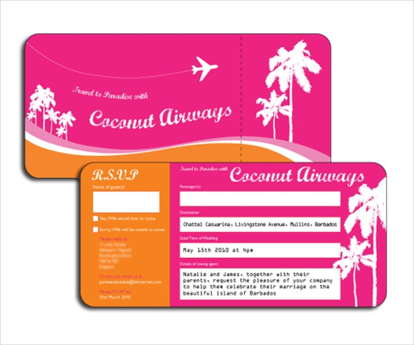 plane ticket invitation template free 28 images diy airplane – Ticket Invitation Template