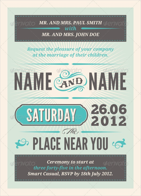 22+ Wedding Invitations | Free & Premium Templates