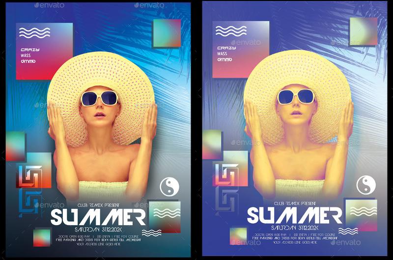 Modern Minimal Summer Poster