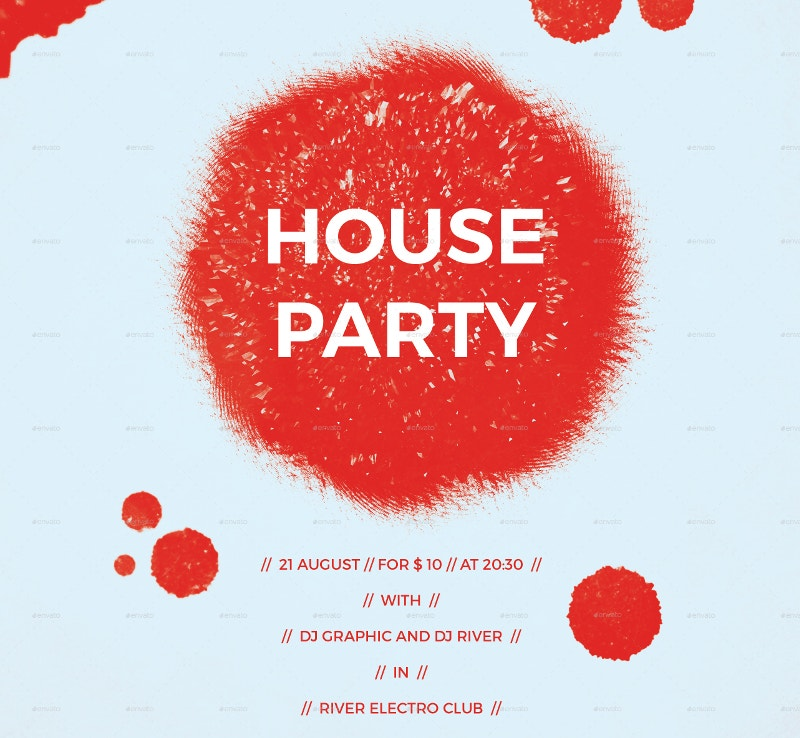 Modern House Party Poster