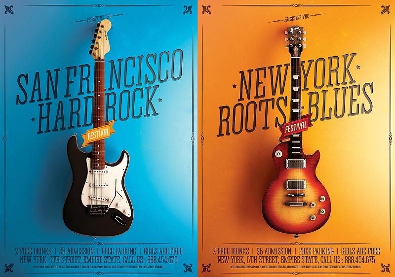 Minimal Rock Festival Poster
