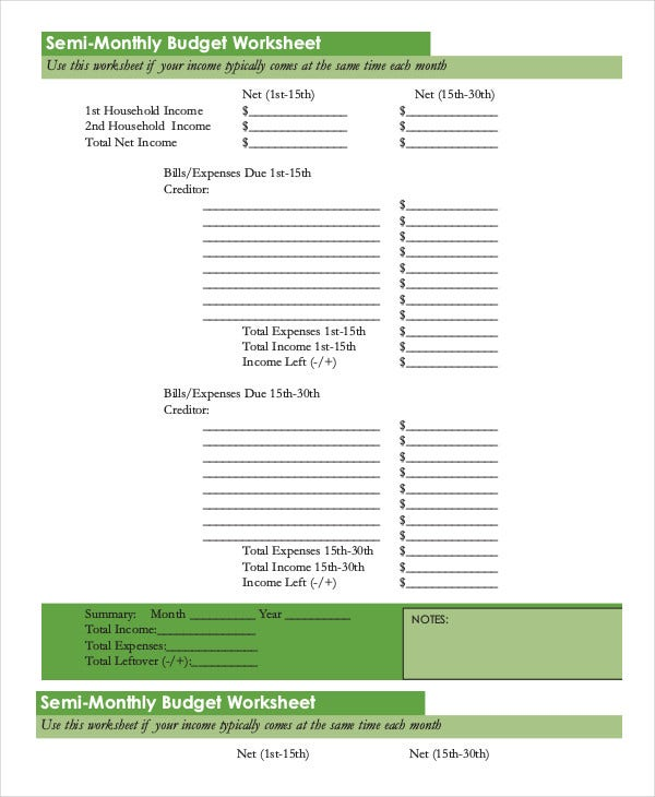 Printable Monthly Budget Template 11 Free Excel Pdf Documents