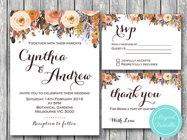 22 Wedding Invitations Free Premium Templates