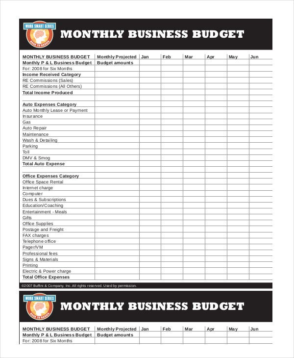 Printable Monthly Budget Template - 21+ Free Excel, PDF ...
