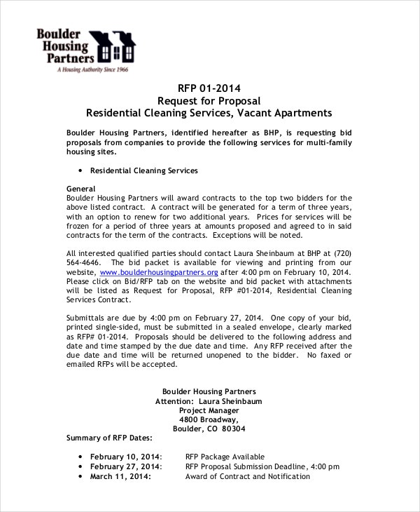 Rfp Response Cover Letter Sample Proposal Cover Letter Sample