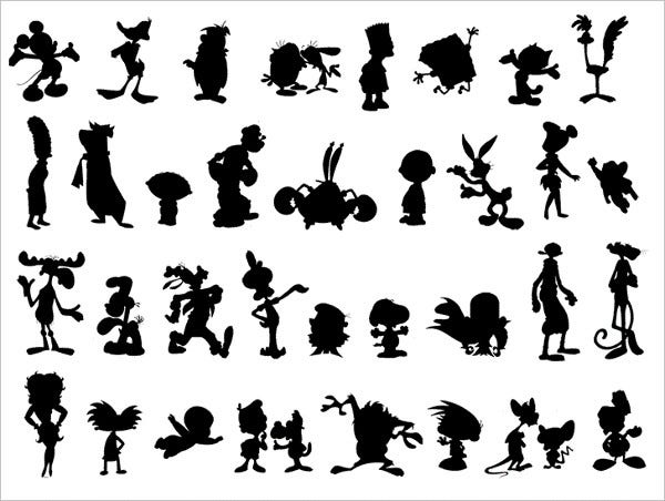 Cartoon Silhouettes Font