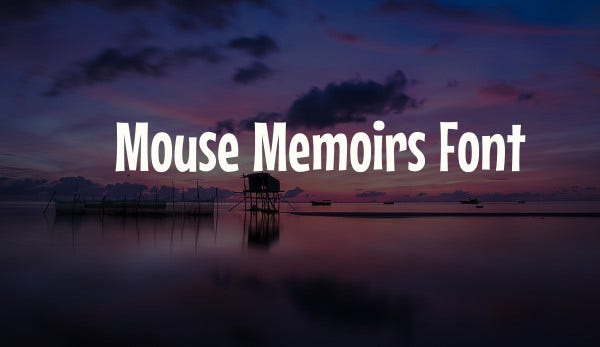 mouse memoirs font
