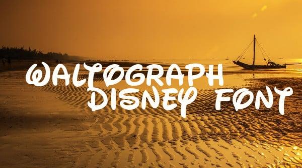 Waltograph Disney Font