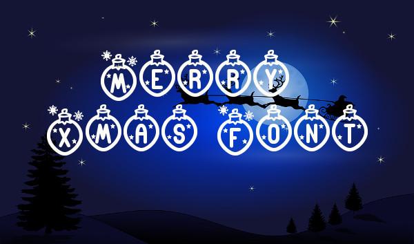 Merry Xmas Font