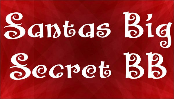 santas big secret bb font