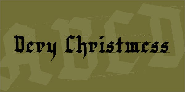 very christmess font