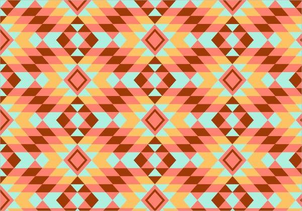 geometric kilim pattern