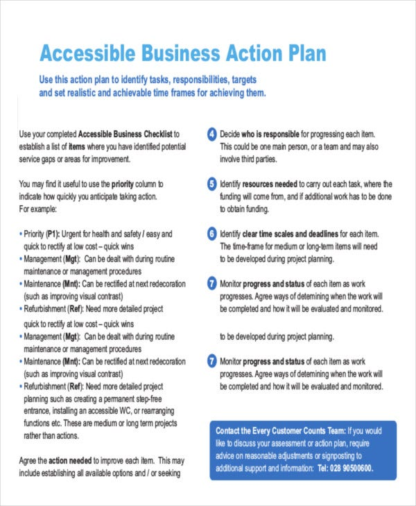 Action Plan Templates  Free  Premium Templates