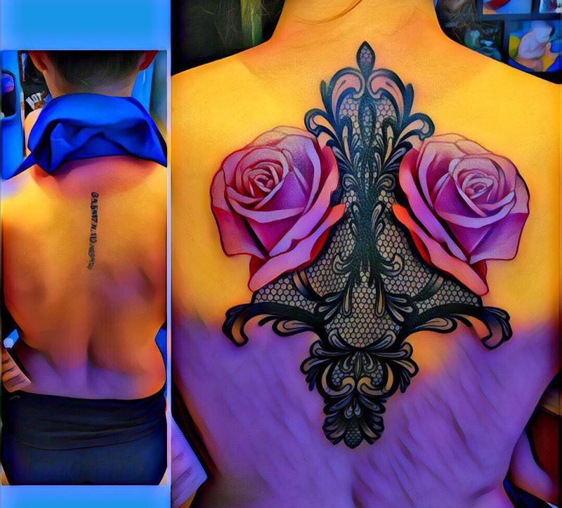 Flowers Tattoo on Woman