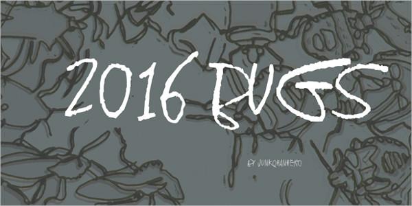 2016 Bugs Font