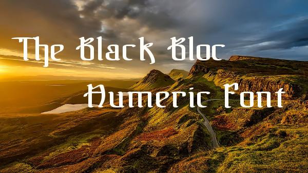 The Black Bloc Numeric Font