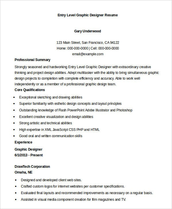 entry-level-graphic-designer-resume
