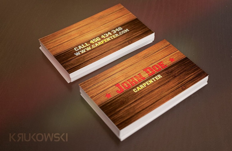 20 wooden business card designs free premium templates wooden business card template fbccfo Choice Image