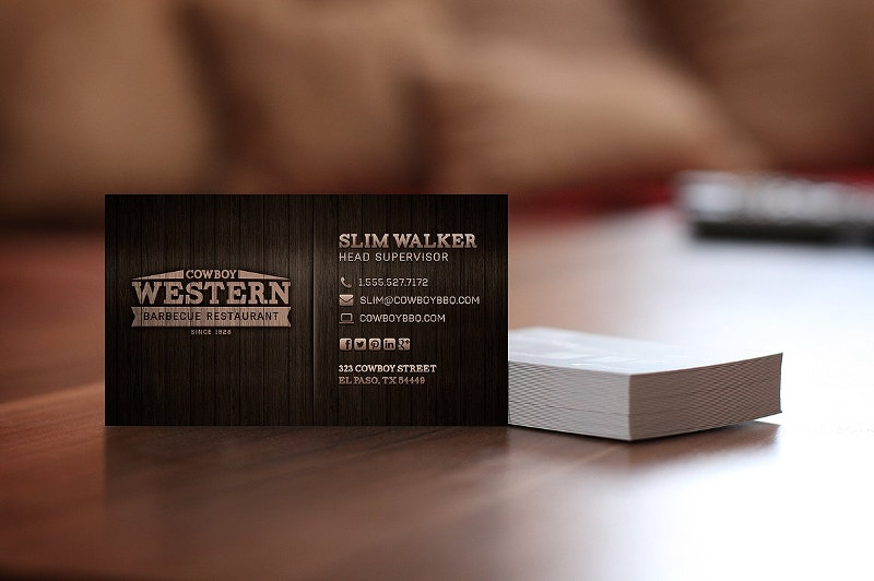 Western Style Business Card