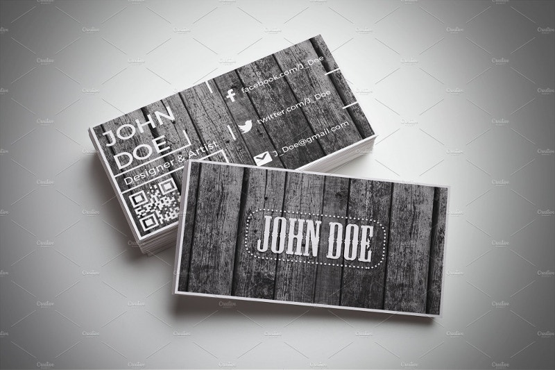 Vintage Wood Business Card Template