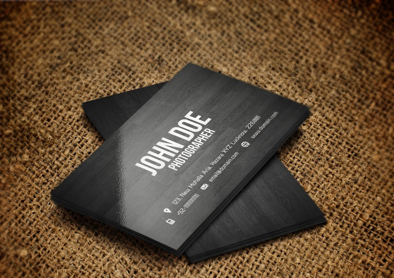 Stylish Wooden Business Card