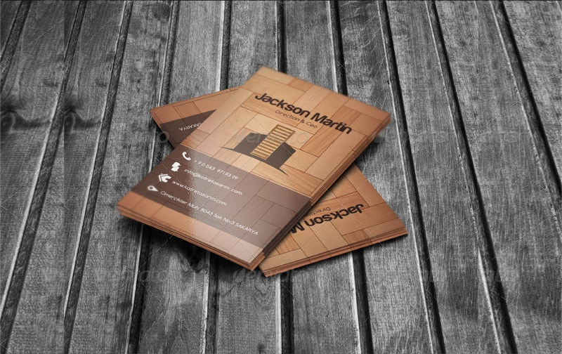 Print Design Wooden Business Card Free