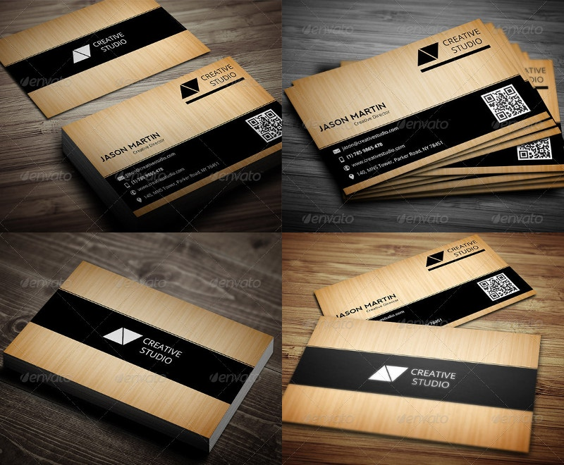 Premium Wooden Business Card