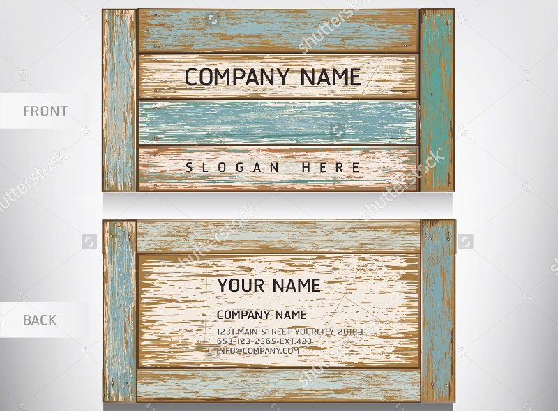 Old Wooden Business Card Template