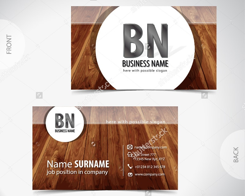 21 Wooden Business Card Templates Word Publisher Psd