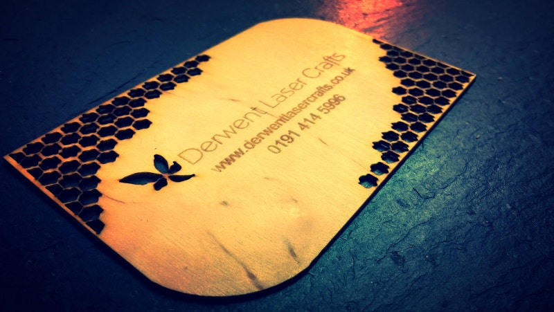 Laser Cut Wood Business Card