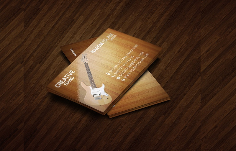 Free Download Musician Business Card