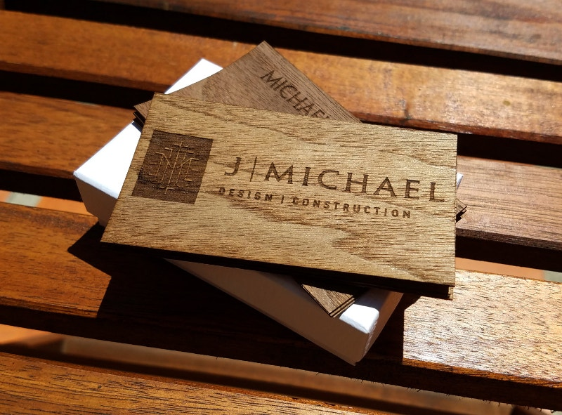 Double Sided Wood Business Card
