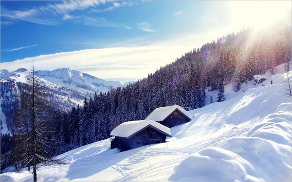 Ski Touring Austria Background