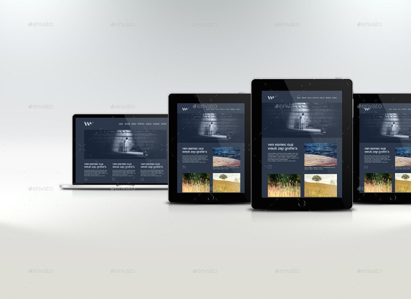 Website Devices & Screen Mockup