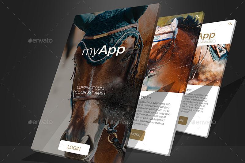 Professional Perspective 3D Web App Mockup