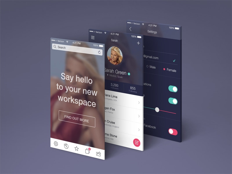app screens perspective mockup free download
