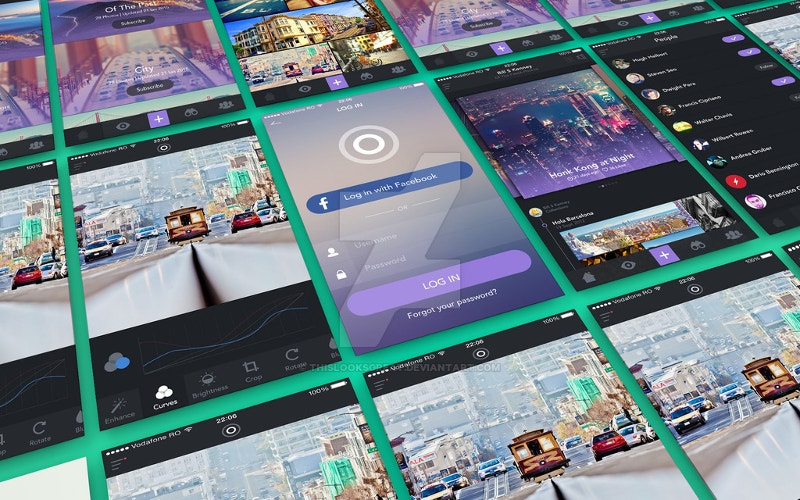 app presentation screens mockup