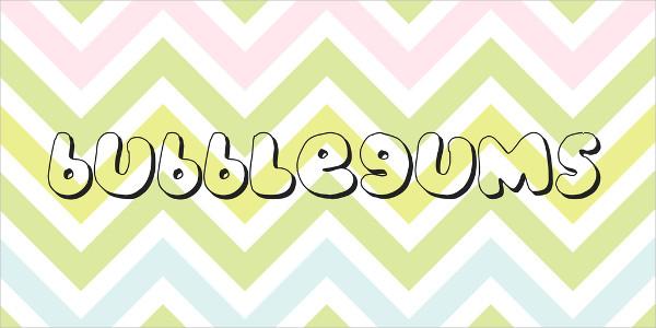 Bubble Gums Font