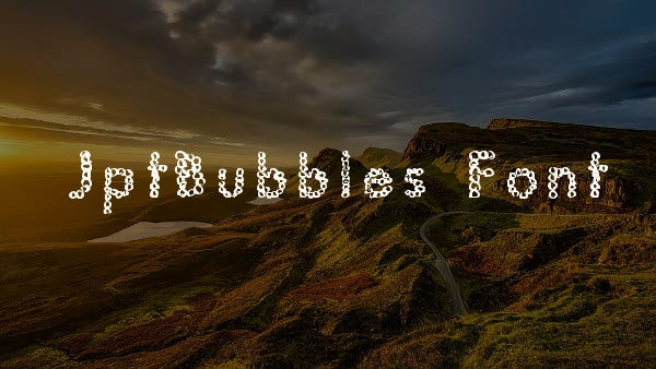 JptBubbles Font