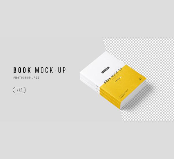 a4 book mockup