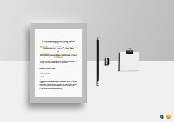 accountant agreement template in google docs