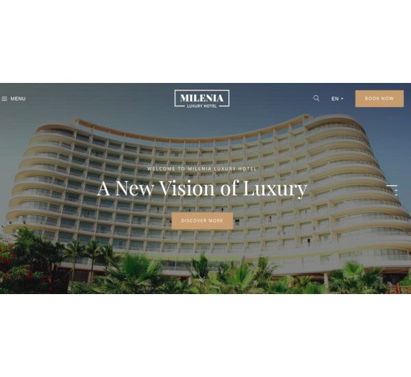 beach hotel resort website template