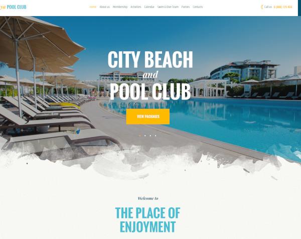 beach resort html website template
